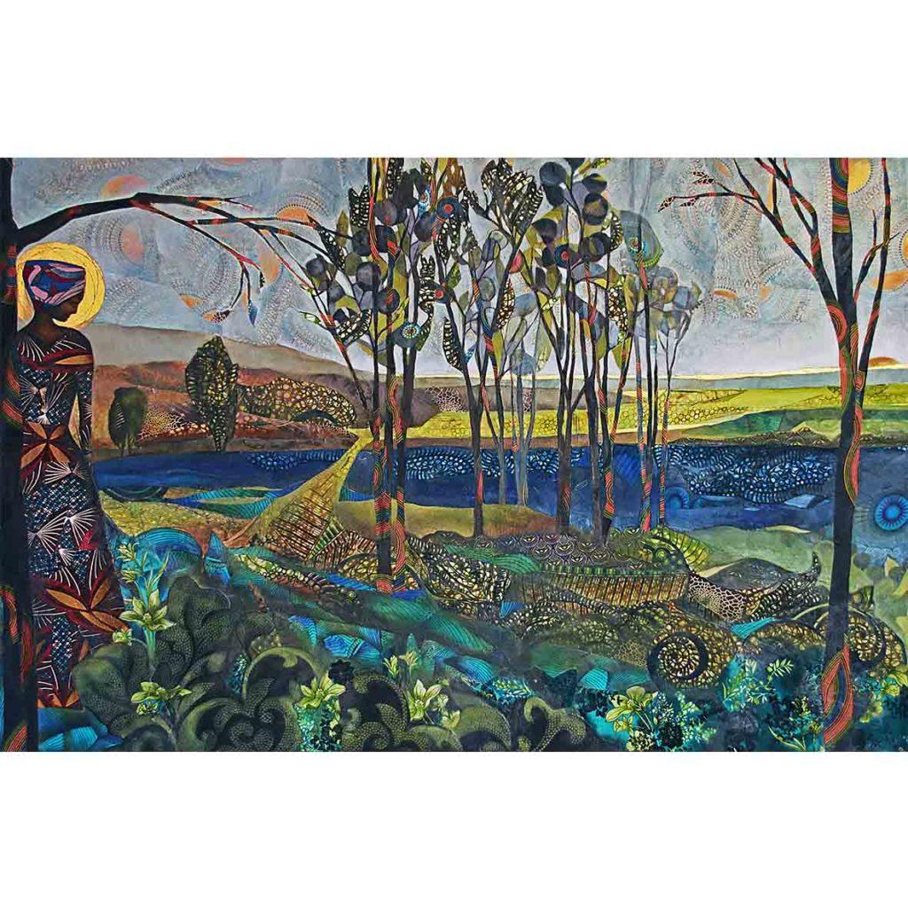 Kara Taylor, 2018, Reservoir, mixed Media on Canvas, 150 x 101 cm