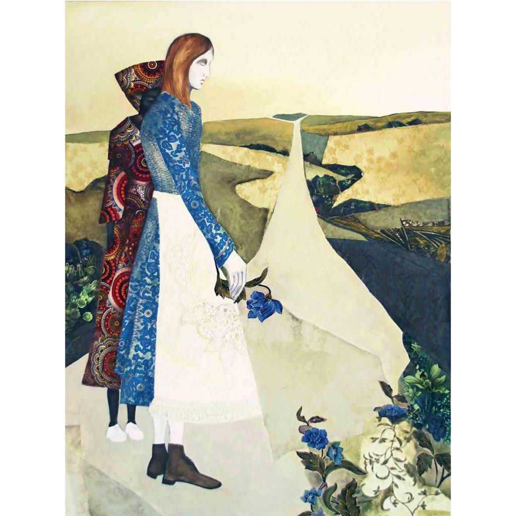 Kara Taylor, Apron.2018, mixed media on canvas, 101 x 76 cm
