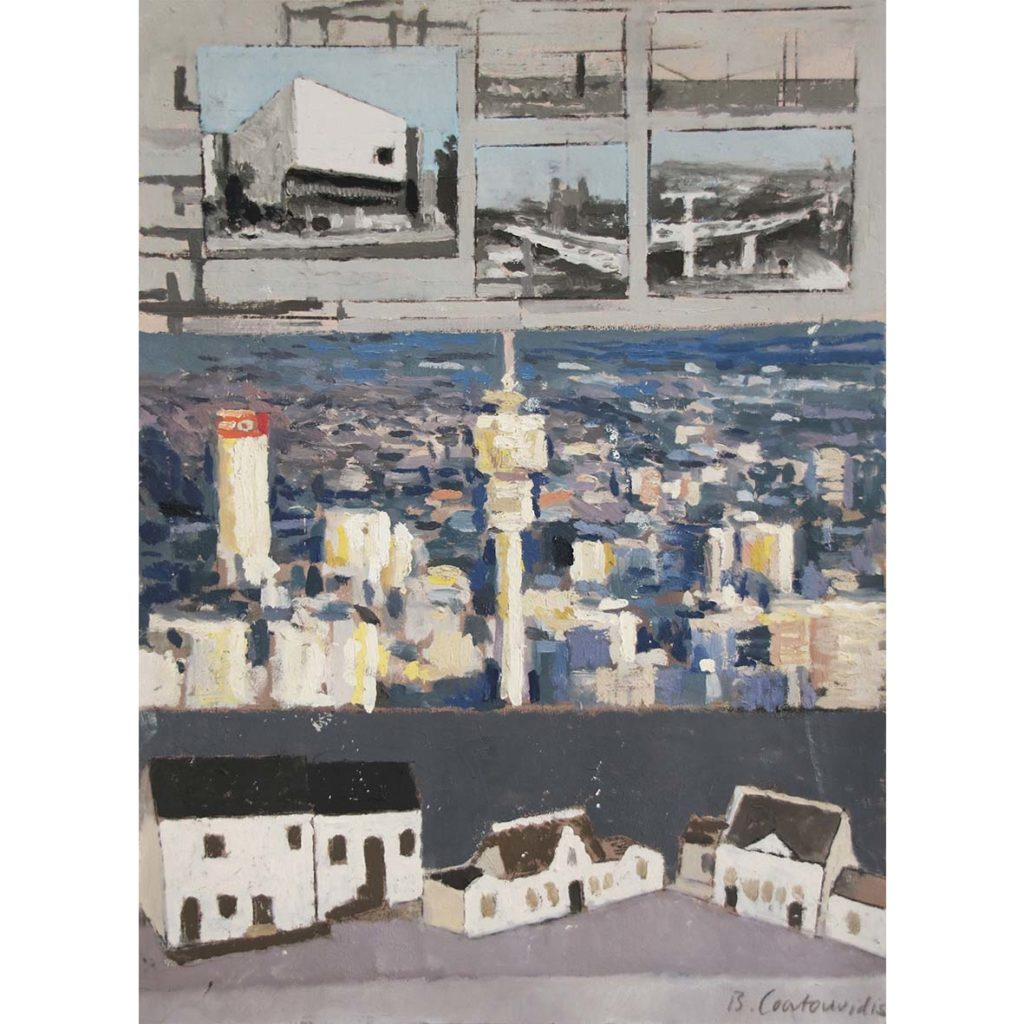 Ben Coutouvidis Surveilance Camera Images Hillbrow Moravian Mission Station Model, Mamre 2018 mixed media 32 x 45 cm