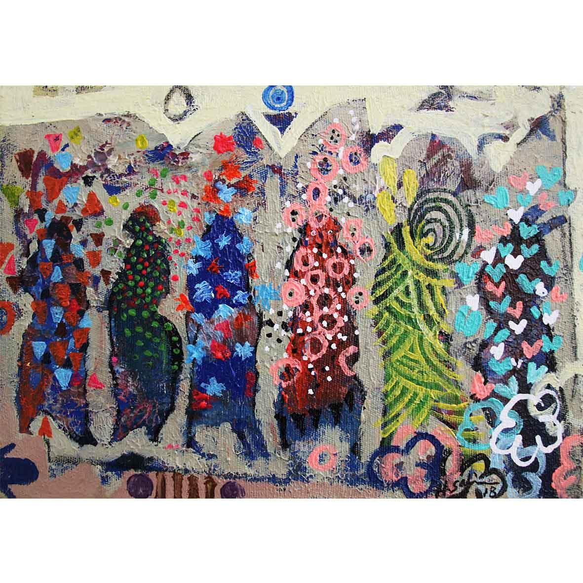 Hussein Salim Untitled (HS194) 2018 Acrylic on Canvas 19 x 27 cm