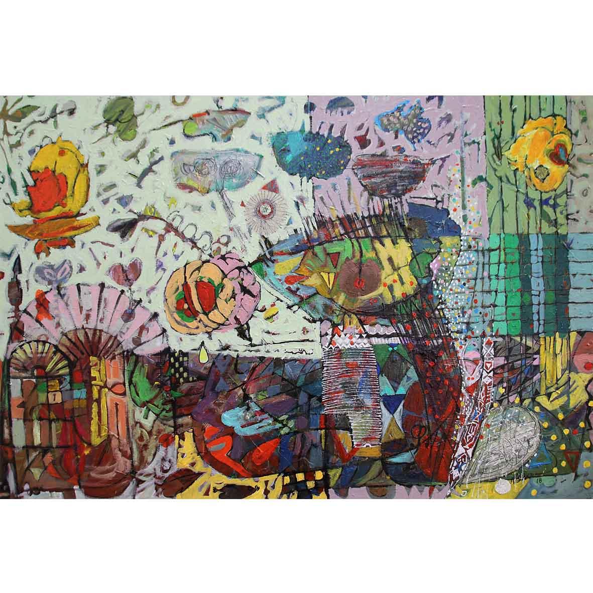 Untitled (HS203) 2018 Acrylic on Canvas 90.5 x 61 cm