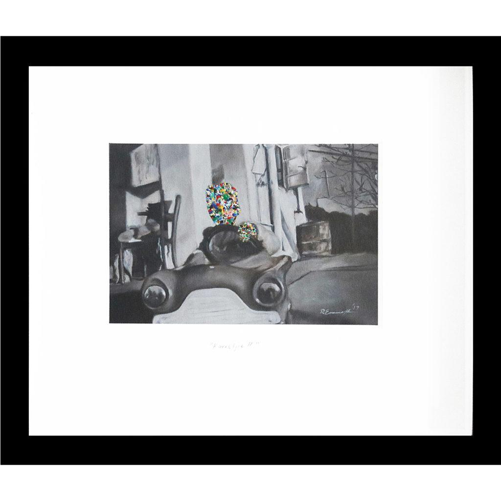 Rory Emmett Karretjie ll 2017 Oil on card 28 x 24 cm