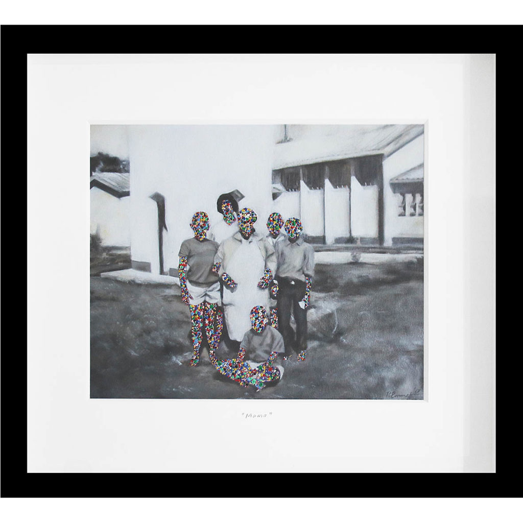 Rory Emmett Mama 2017 Oil on card 35.5 x 32.5 cm