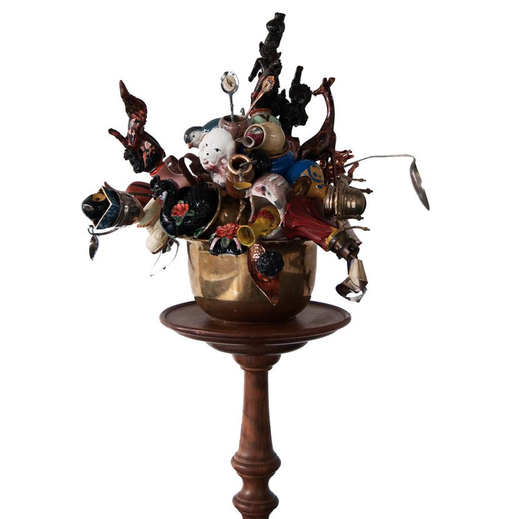 Stephané Conradie Mimesis 2017 Mixed media sculpture 141 x 49 x 34 cm