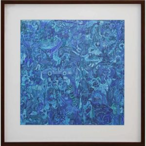 Aimee Lindeque Blue August 2018 watercolour on paper 51.5 x 51 cm