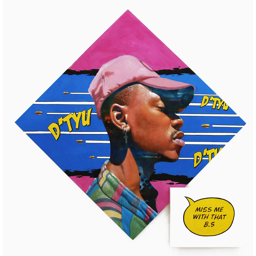 Loyiso Mkize Missed Me 2019 Oil and Acrylic on Canvas Aprox 115.5 x 115.5 cm