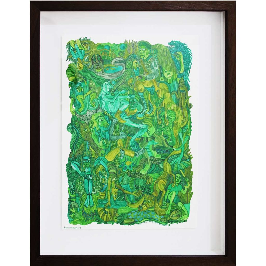 Small Green September 2018 watercolour on paper 36.5 x 28.4 cm