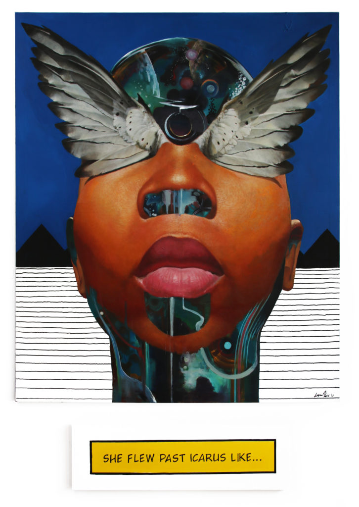 Loyiso Mkize The Sun and the Sky 2019 Oil and Acrylic on Canvas Aprox 150 x 185 cm