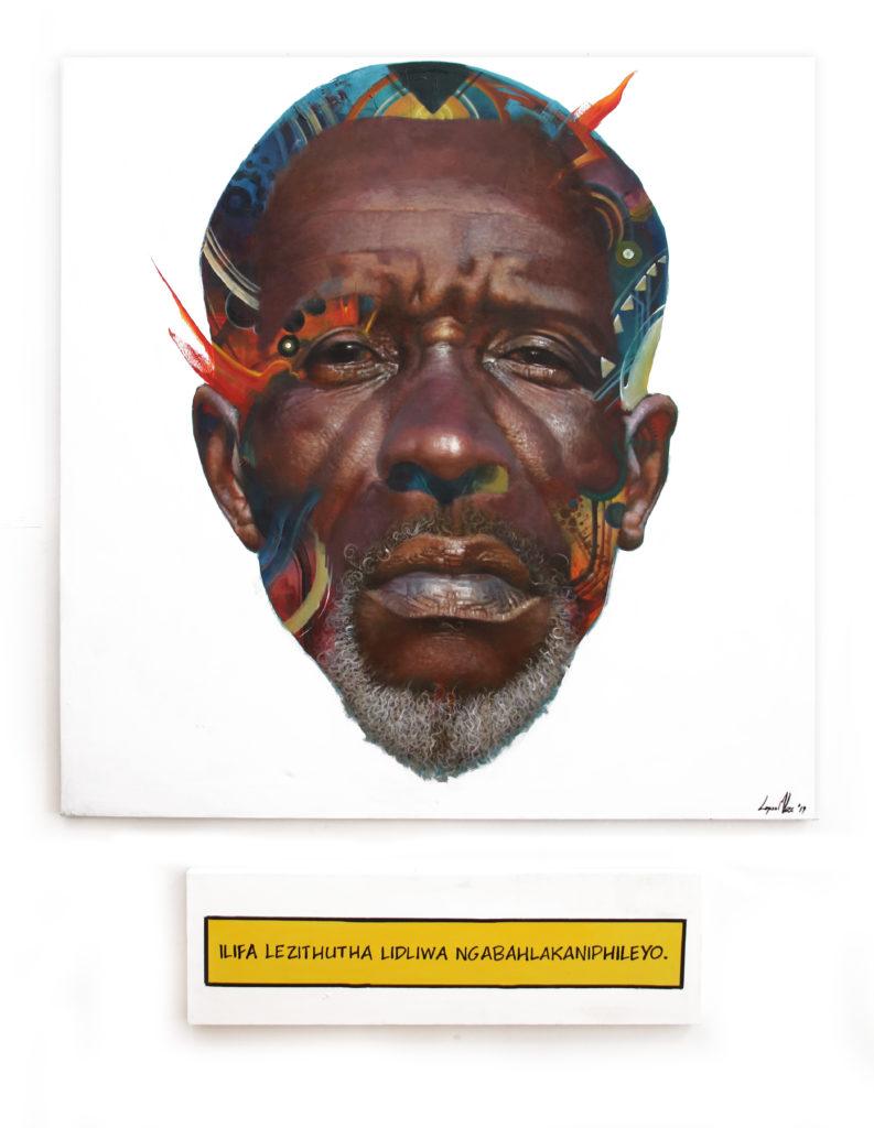 Loyiso Mkize Uhuru 2019 Oil and Acrylic on Canvas Aprox 150.5 x 150.5 cm