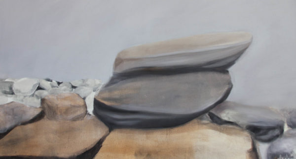 Danielle Zelna Alexander, What Men are to Rocks and Mountains, 2019 oil on canvas 80.5 x 130 cm - slider