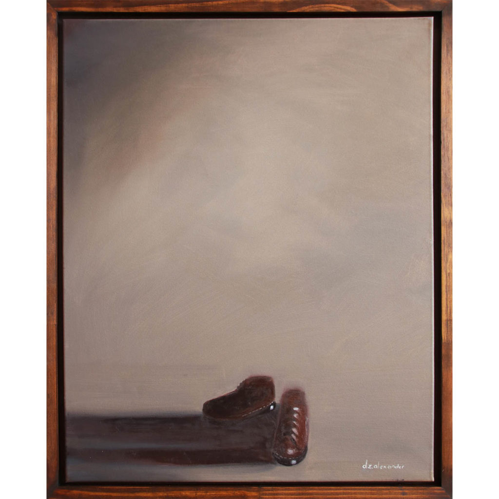 Danielle Zelna Alexander, When My Boots Are Heavy, 2019 oil on canvas 67.5 x 82 cm