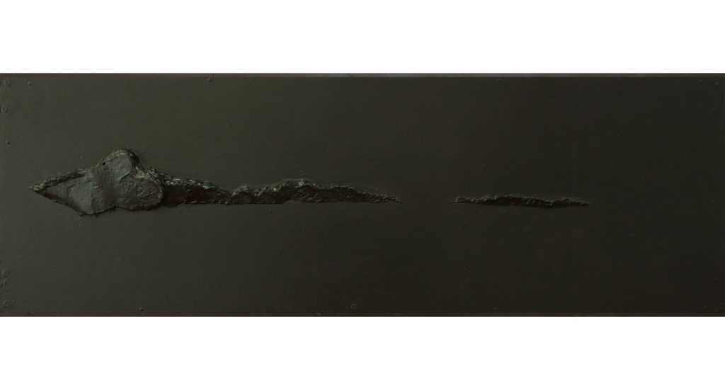 Danielle Zelna Alexander,Vision,Vista, 2019 plaster on board 40 x 120 cm