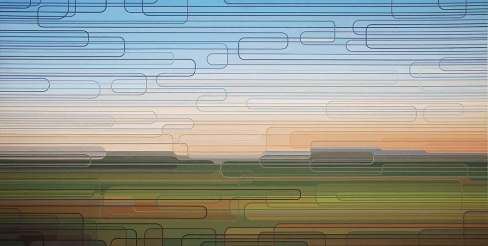 Albert Coertse En Route 2015 Oil on MDF/Board 150.5 x 75 cm