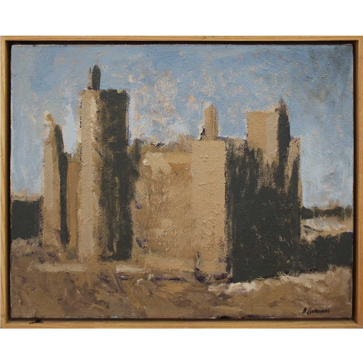 Ben Coutouvidis Mud Mosque 2019 mixed media 53 x 42.5 cm