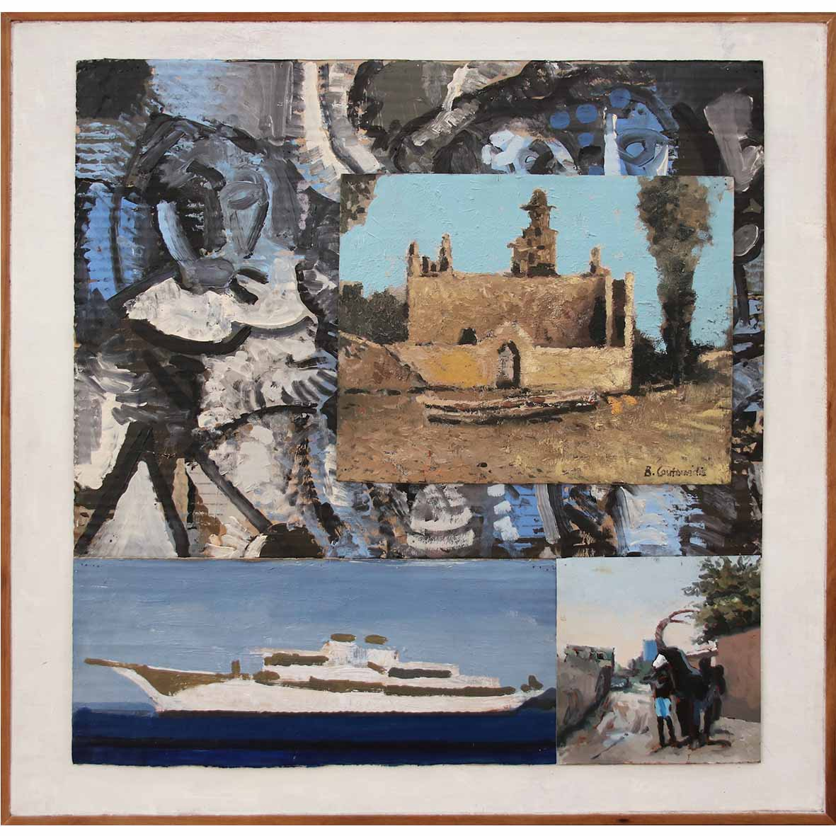 Ben Coutouvidis Picasso in Africa 2019 mixed media 62 x 62 cm
