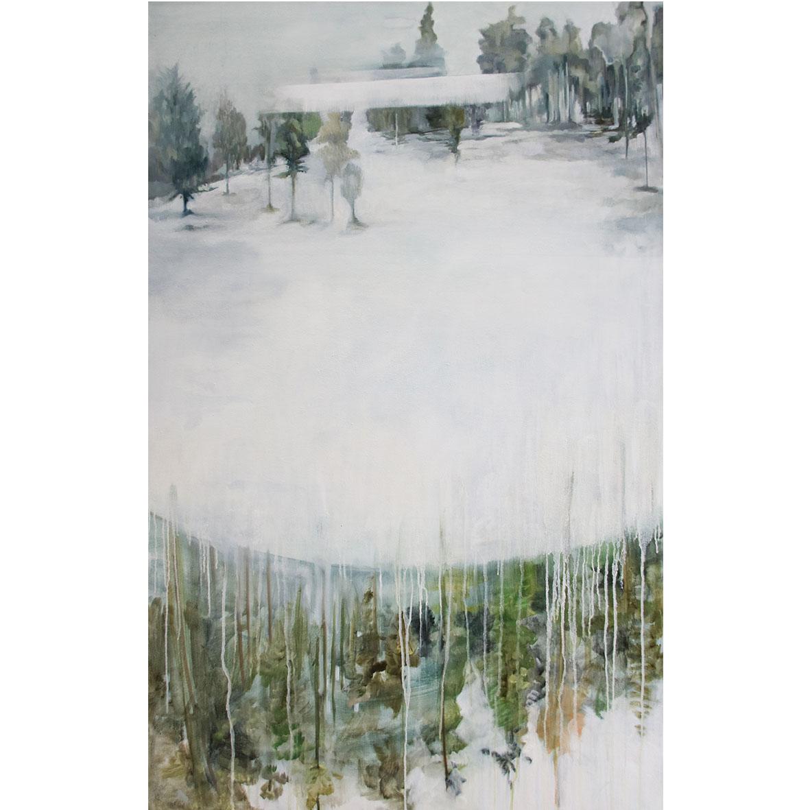Desrae Chimes Saacks, Cliffside, 2017, oil on canvas, 90 x 140 cm