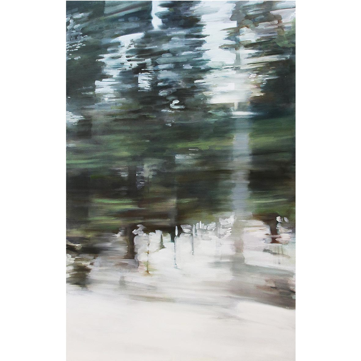 Desrae Chimes Saacks, Trees, 2017, oil on canvas, 90 x 140 cm