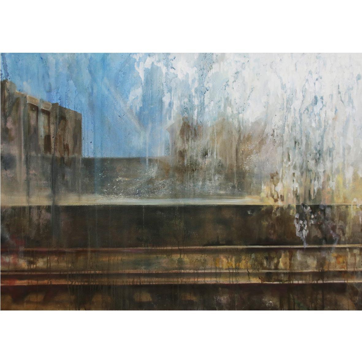 Desrae Chimes Saacks, Untitled I, 2018, oil on canvas, 85 x 120 cm