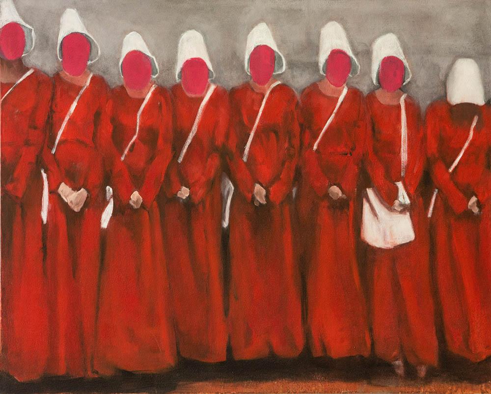 Sue Greeff, acetone veil 2018 oil on canvas 73 x 91cm