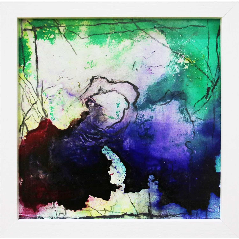 Sue Greeff, iris 2018 ink on board 20 x 20 cm