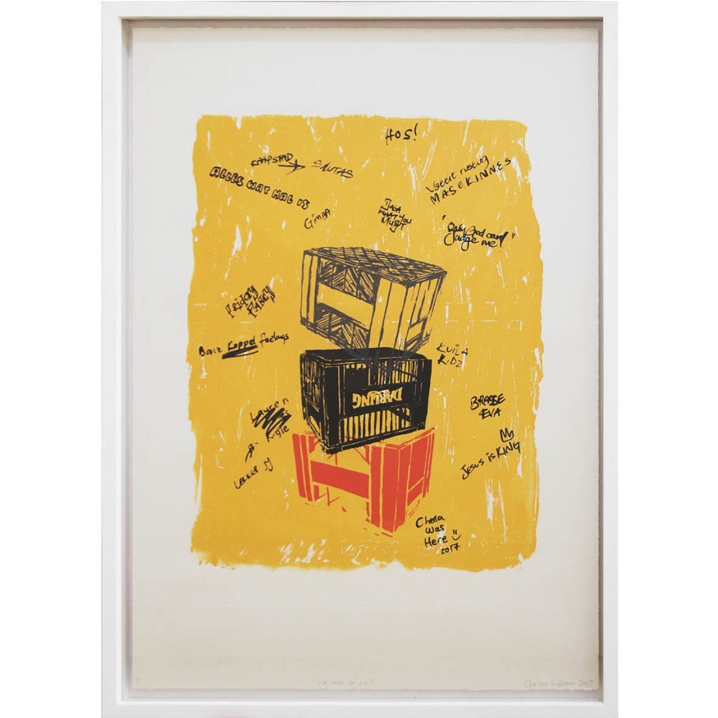 Chelsea Robin Ingham We lam it uit 2017 Silkscreen print on fabriano paper, limited edition 1of1. 70,5 x 50 cm