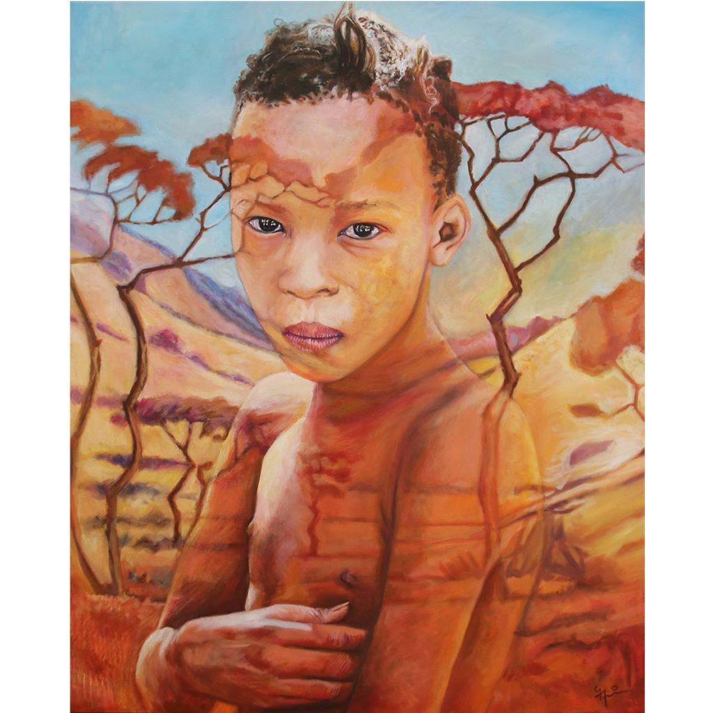 Gary Frier Gham meisie 2019 Oil on Canvas 121 x 100 cm