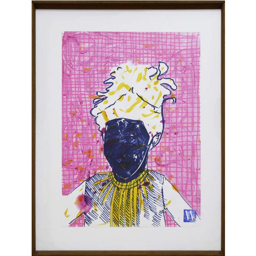 Kirstin Warries Revolutionary Pink Aura 2019 mixed media 54 x 41 cm