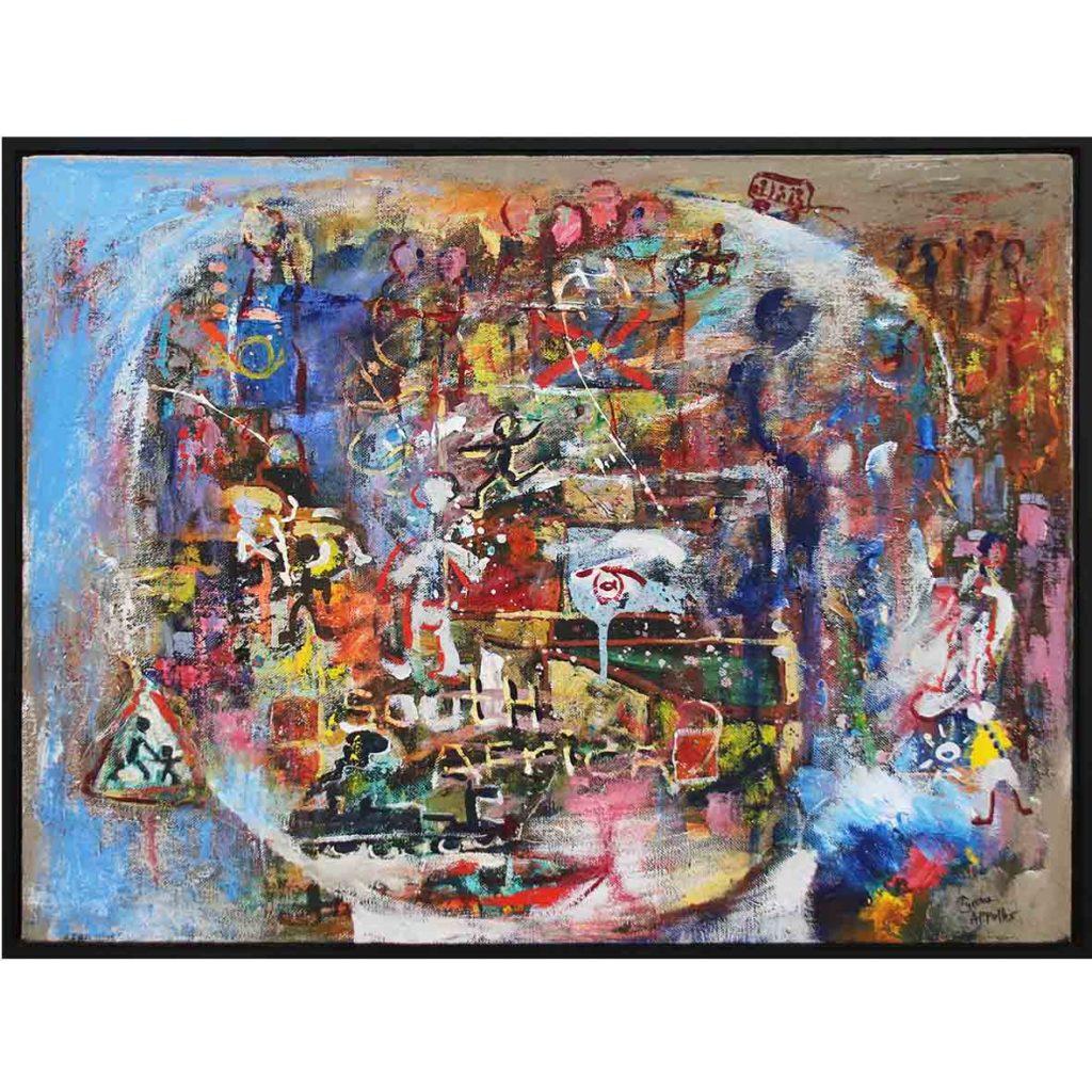 Tyrone Appollis Untitled (1989-2011) acrylic on canvas 63.5cm 84.5cm
