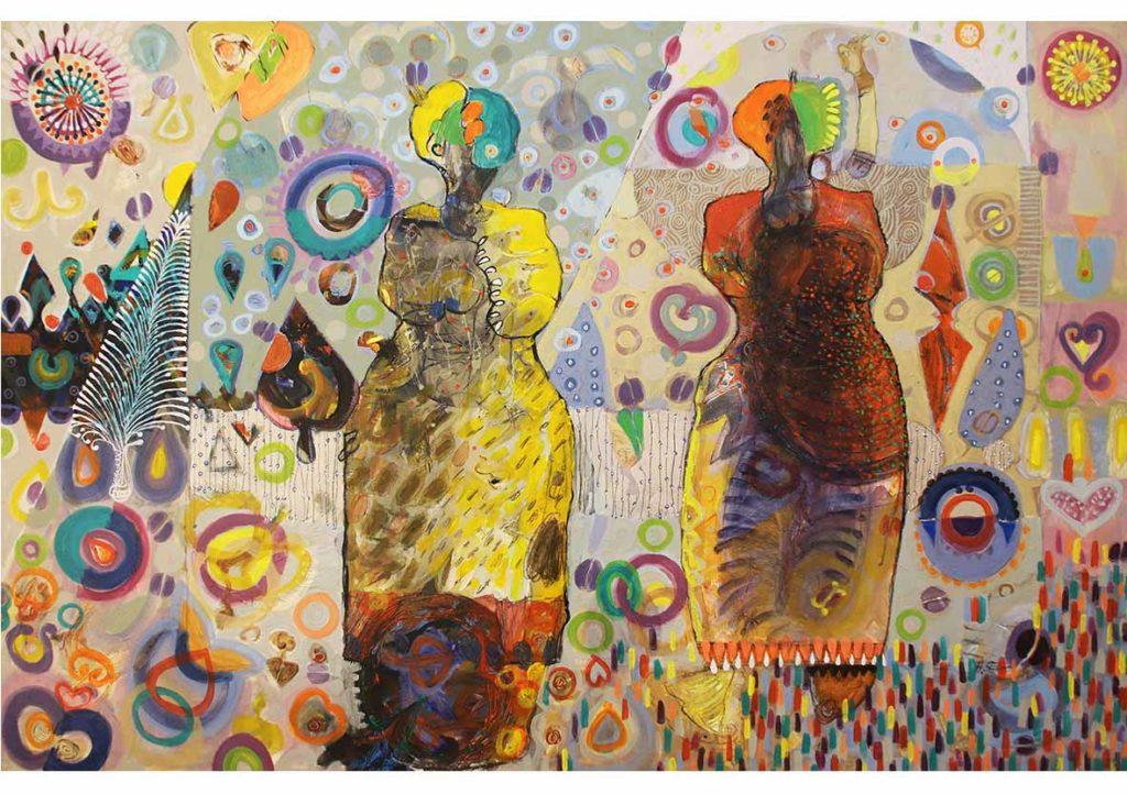 Hussein Salim Nostalgia 2018 Acrylic on Canvas 120 x 180 cm