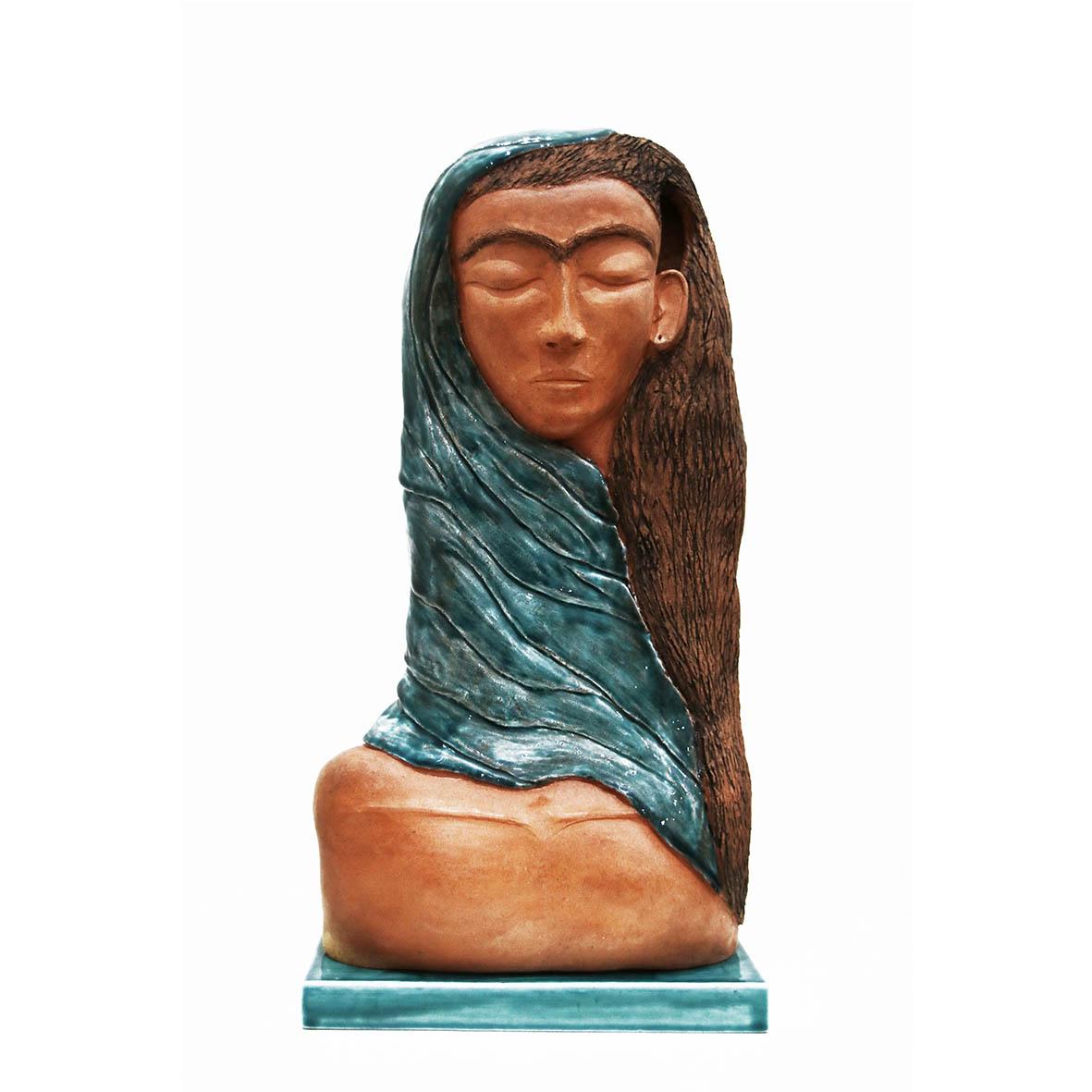 Nava Derakhchani Khanum 2019 Mixed media ceramic sculpture 23 x 10.5 x 45 cm
