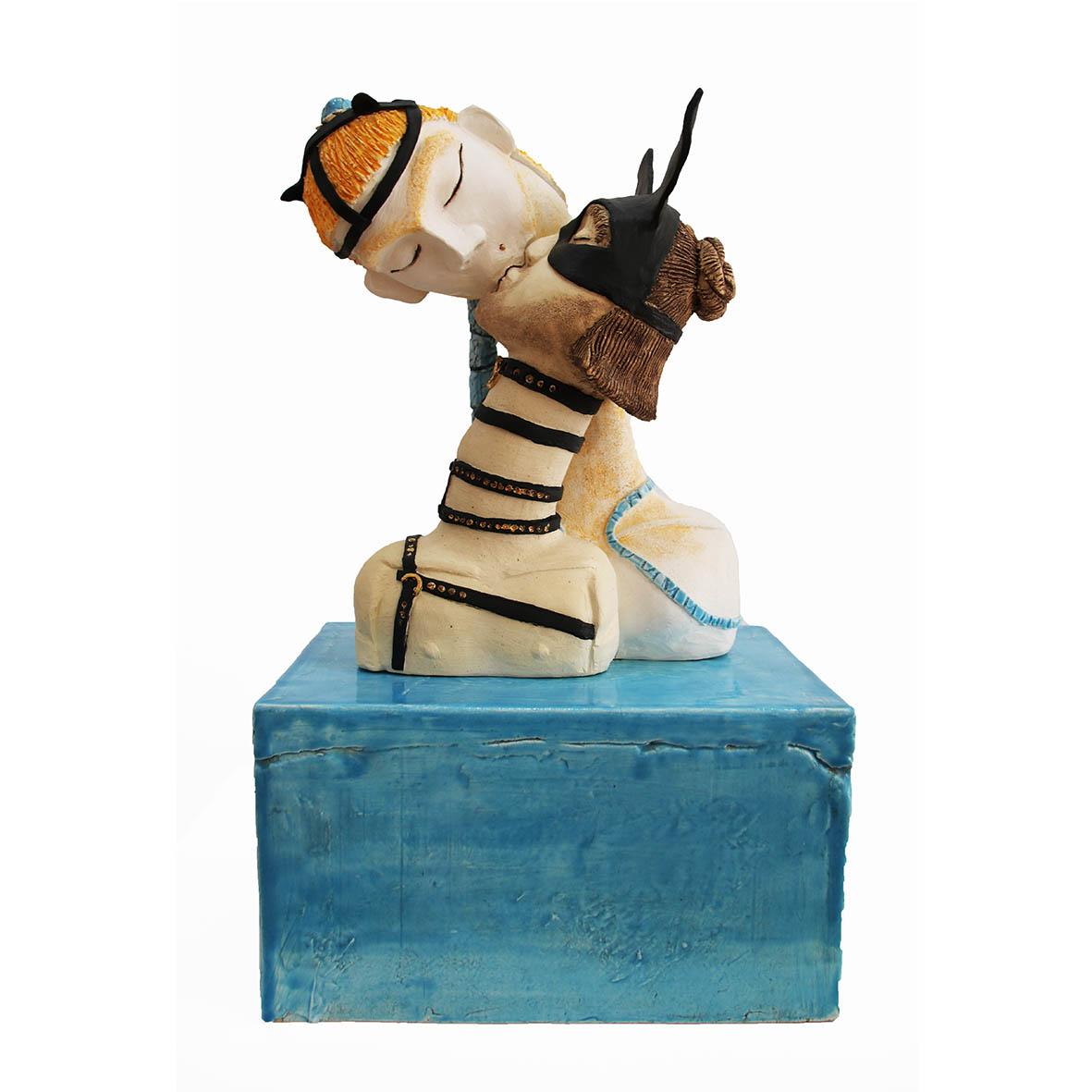 Nava Derakhchani The Ears 2019 Mixed media ceramic sculpture 25 x 17 x 41 cm