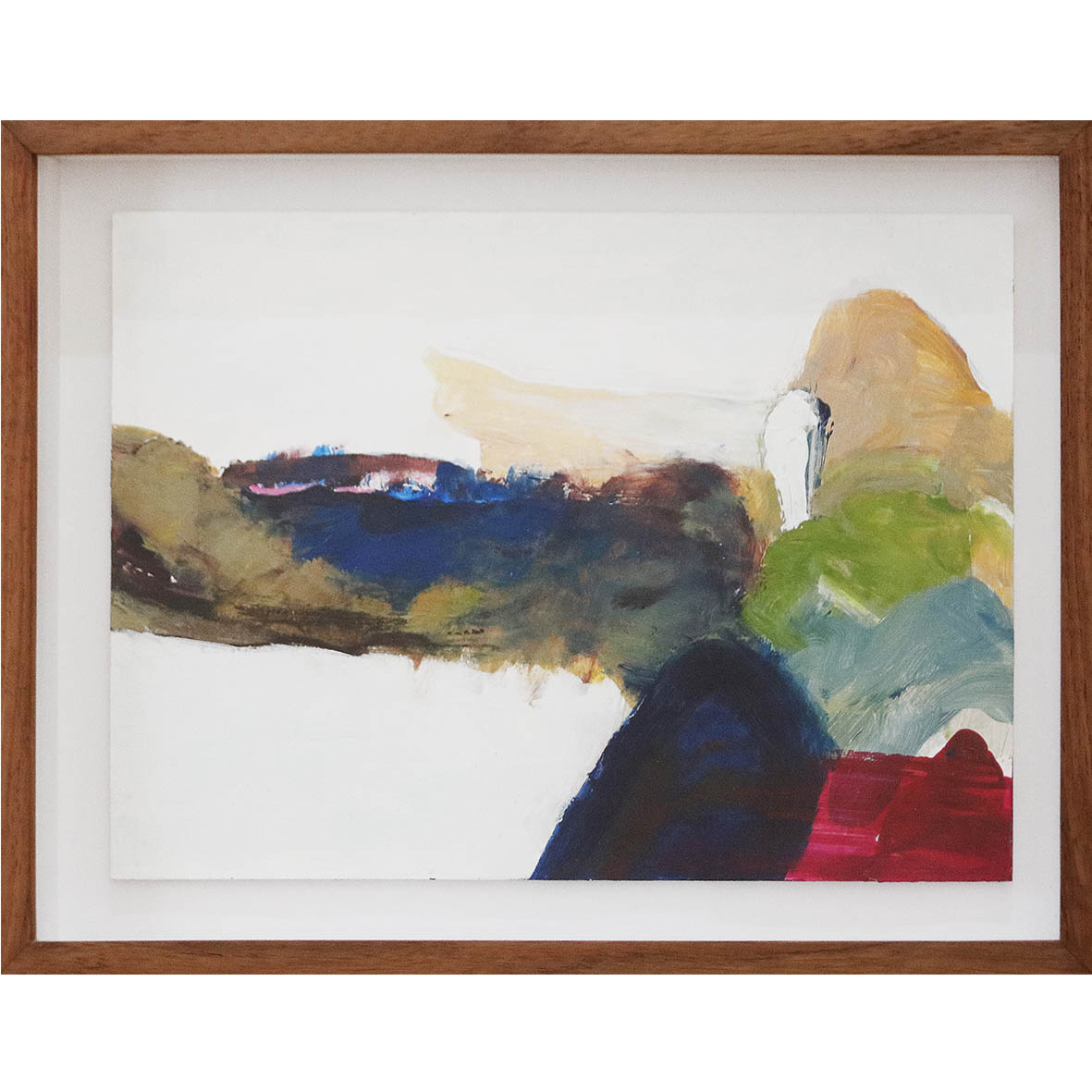 Nina Holmes Alien Terrain 2019 Acrylic on paper 36 x 27 cm