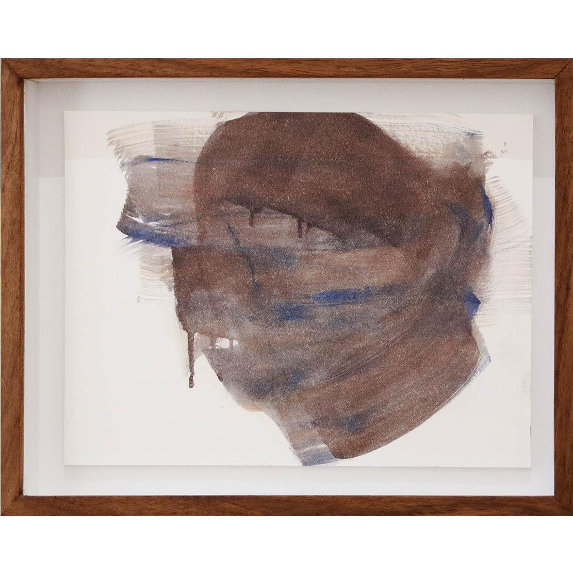 Nina Holmes Blinded 2019 Acrylic on paper 36 x 27 cm