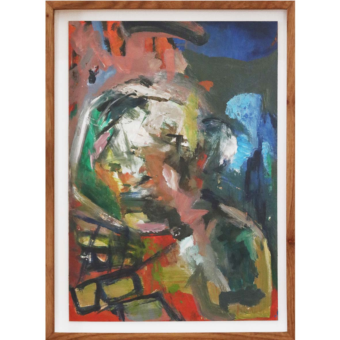 Nina Holmes Sensory Overload 2019 Acrylic on paper 47 x 35 cm