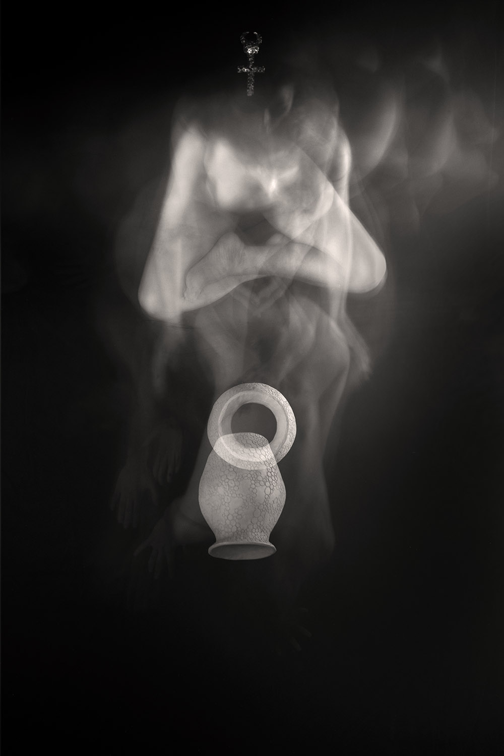 Carla Janse van Rensburg Untitled (10 minute exposure of Ancestry Vase Consecration Ritual) 2018 digital photograph archival ink on Hahnemuhle, 1of20 35.5 x 24.2 cm
