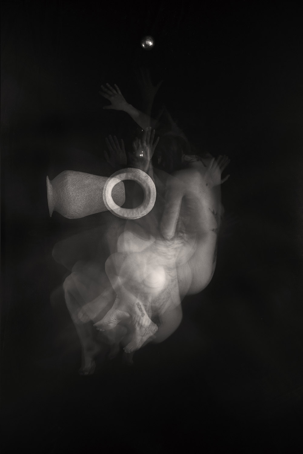 Carla Janse van Rensburg Untitled (10 minute exposure of Collective Pain Vase Consecration Ritual 2) 2018 digital photograph archival ink on Hahnemuhle, 1of20 35.5 x 24.2 cm