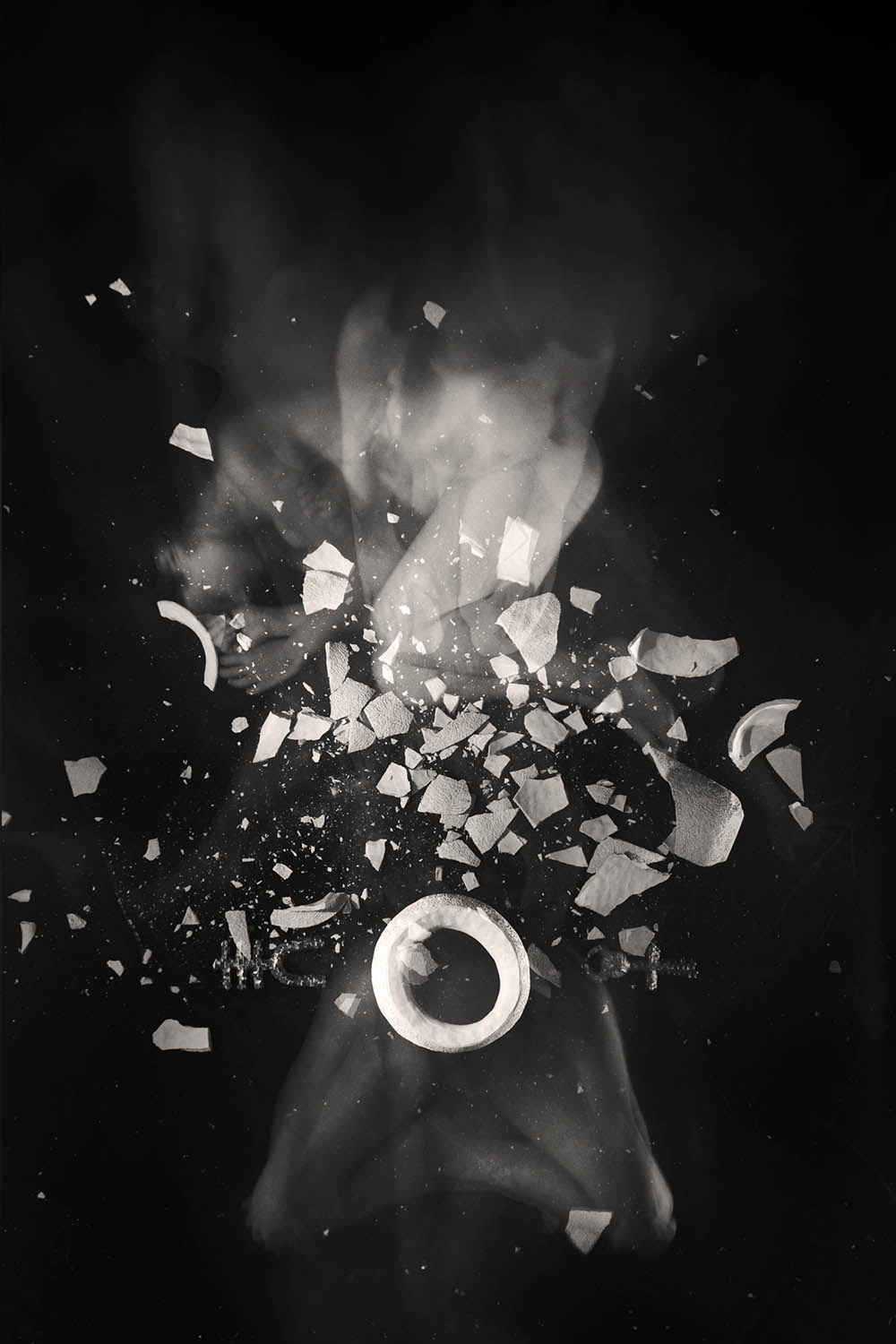 Carla Janse van Rensburg Untitled (10 minute exposure of Collective Pain Vase Ritual) 2018 digital photograph archival ink on Hahnemuhle, 1of20 35.5 x 24.2 cm