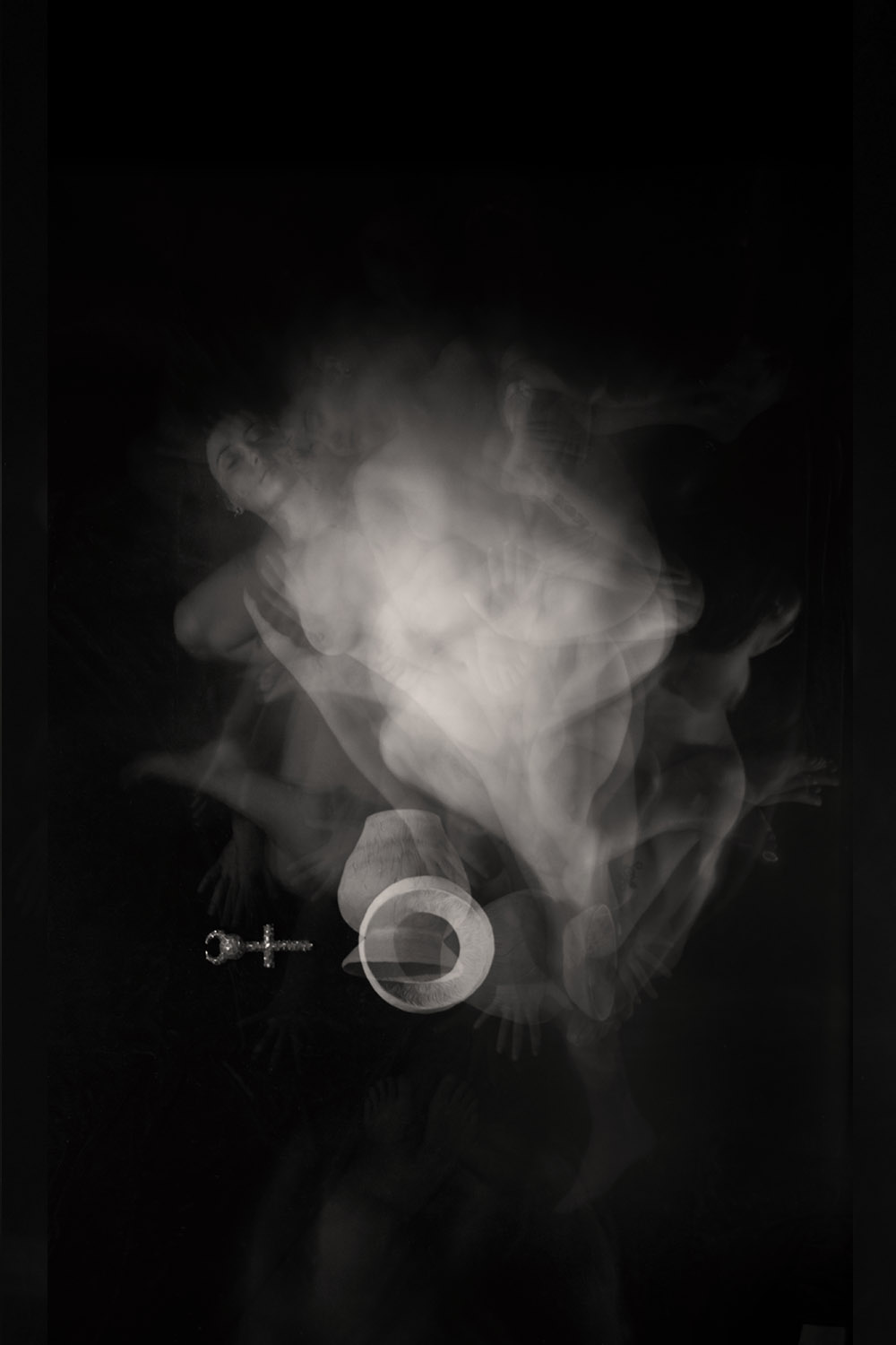 Carla Janse van Rensburg Untitled (10 minute exposure of Pain Transference Vase Consecration Ritual) 2018 digital photograph archival ink on Hahnemuhle, 1of20 35.5 x 24.2 cm