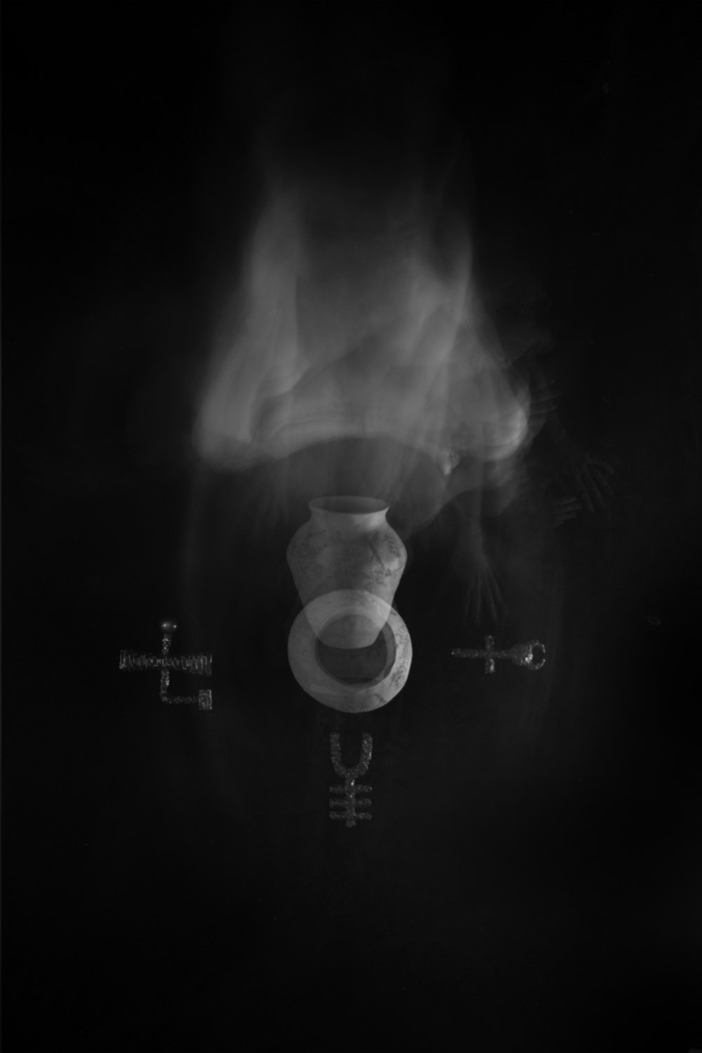 Carla Janse van Rensburg Untitled (10 minute exposure of Recoding Vase Consecration Ritual) 2018 digital photograph archival ink on Hahnemuhle, 1of20 35.5 x 24.2 cm