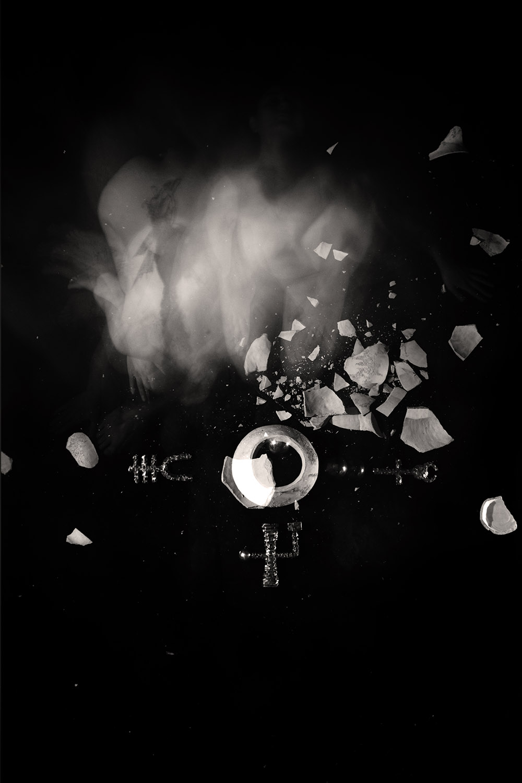 Carla Janse van Rensburg Untitled (10 minute exposure of Recoding Vase Ritual) 2018 digital photograph archival ink on Hahnemuhle, 1of20 35.5 x 24.2 cm