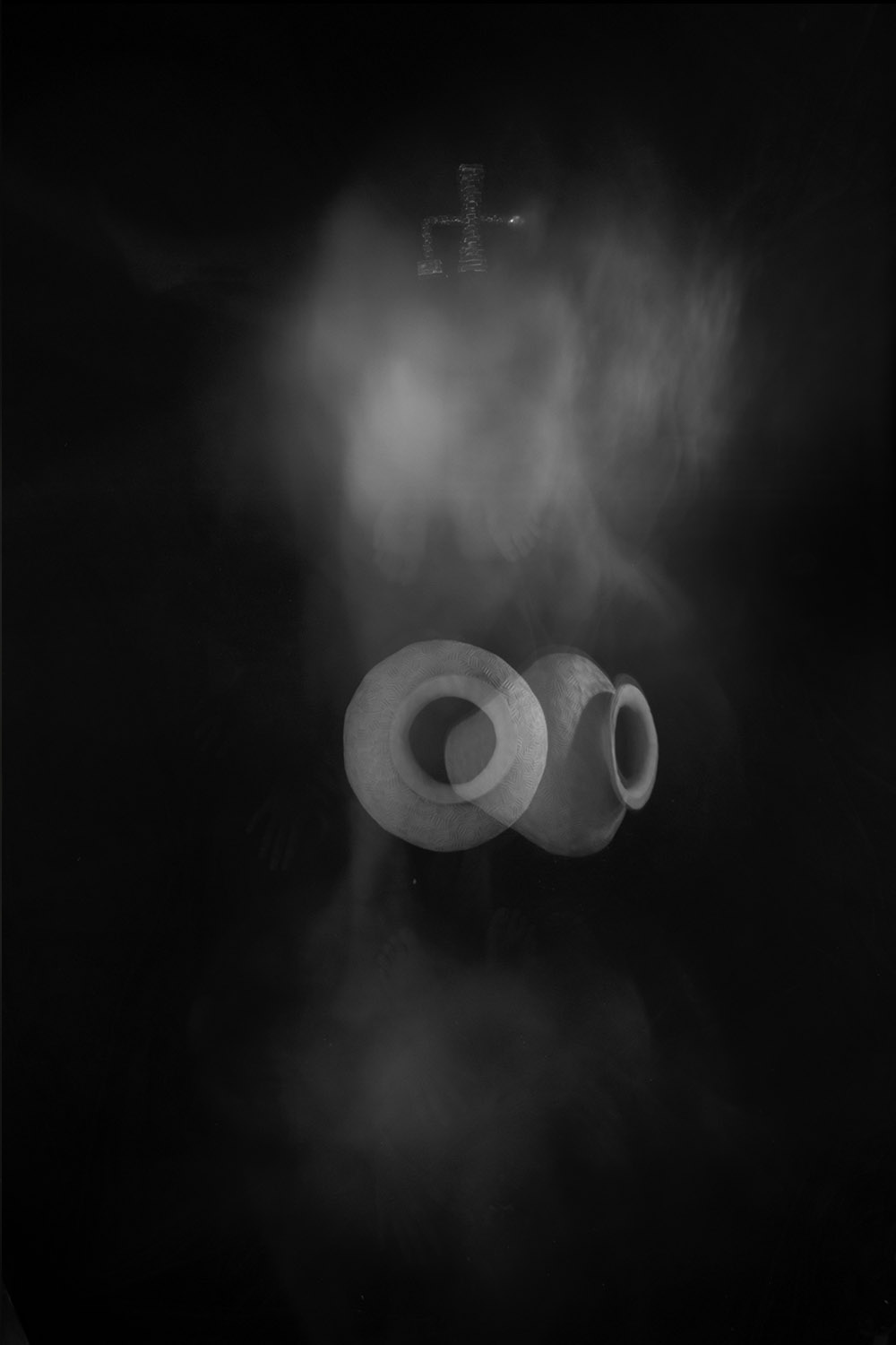 Carla Janse van Rensburg Untitled (10 minute exposure of Transformation Vase Consecration Ritual ) 2018 digital photograph archival ink on Hahnemuhle, 1of20 35.5 x 24.2 cm
