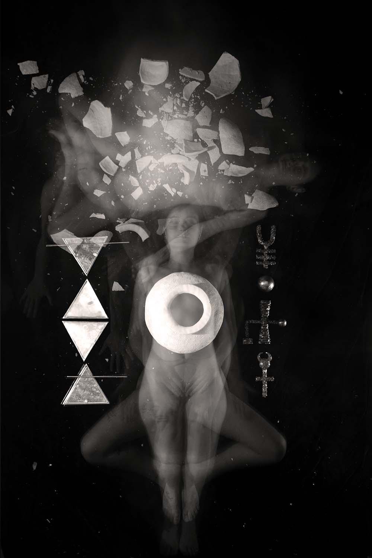 Carla Janse van Rensburg Untitled (10 minute exposure of Transformation Vase Ritual) 2018 digital photograph archival ink on Hahnemuhle, 1of20 35.5 x 24.2 cm