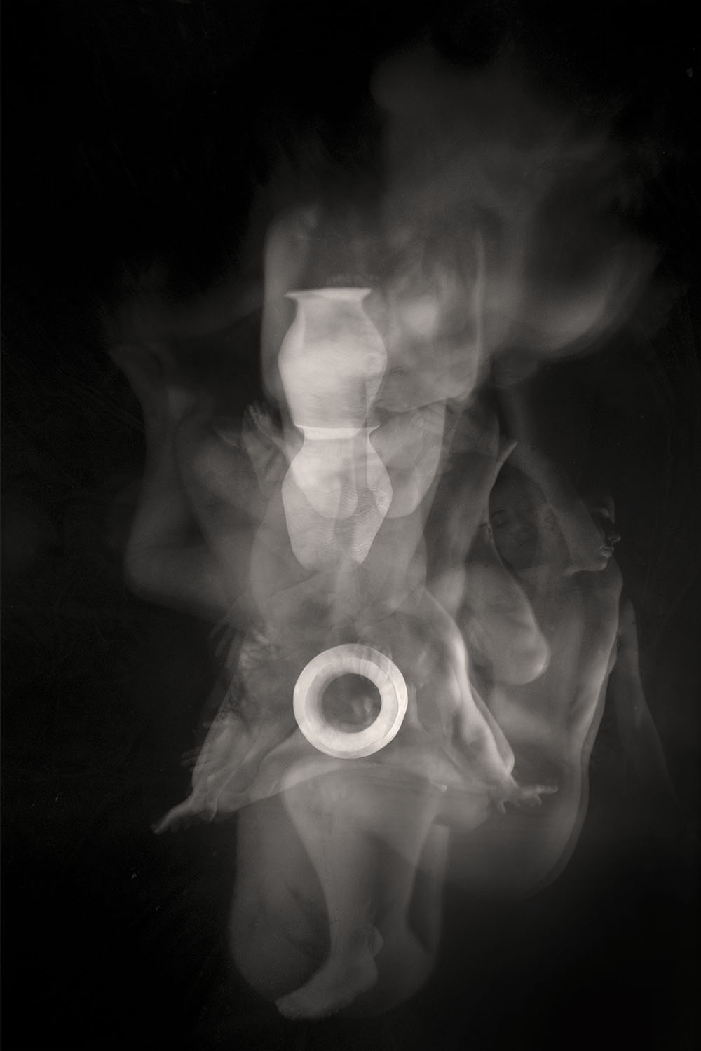 Carla Janse van Rensburg Untitled (10 minute exposure of Water Vase Consecration Ritual 1) 2018 digital photograph archival ink on Hahnemuhle, 1of20 35.5 x 24.2 cm