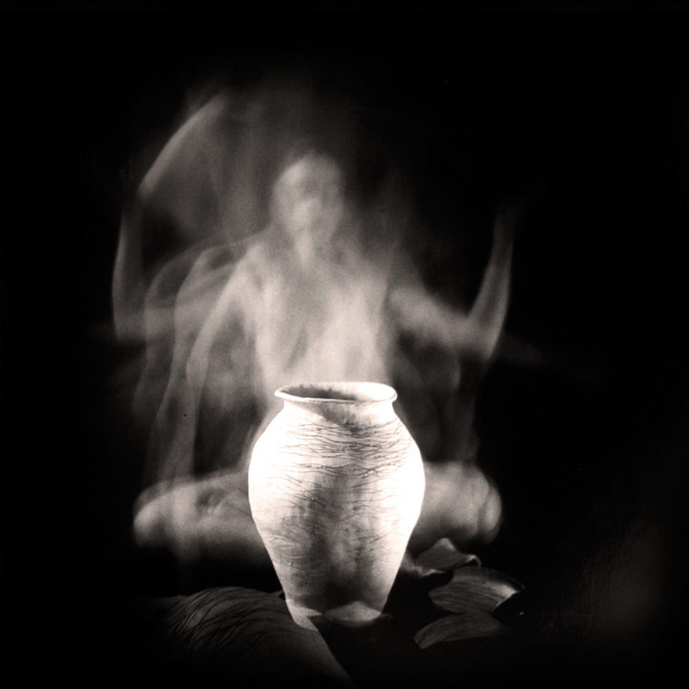Carla Janse van Rensburg Untitled (12 minute exposure of Air Vase Ritual) 2018 Handprinted Film Photograph on Archival Fibre Paper, 1of3 38.5 x 38.6 cm