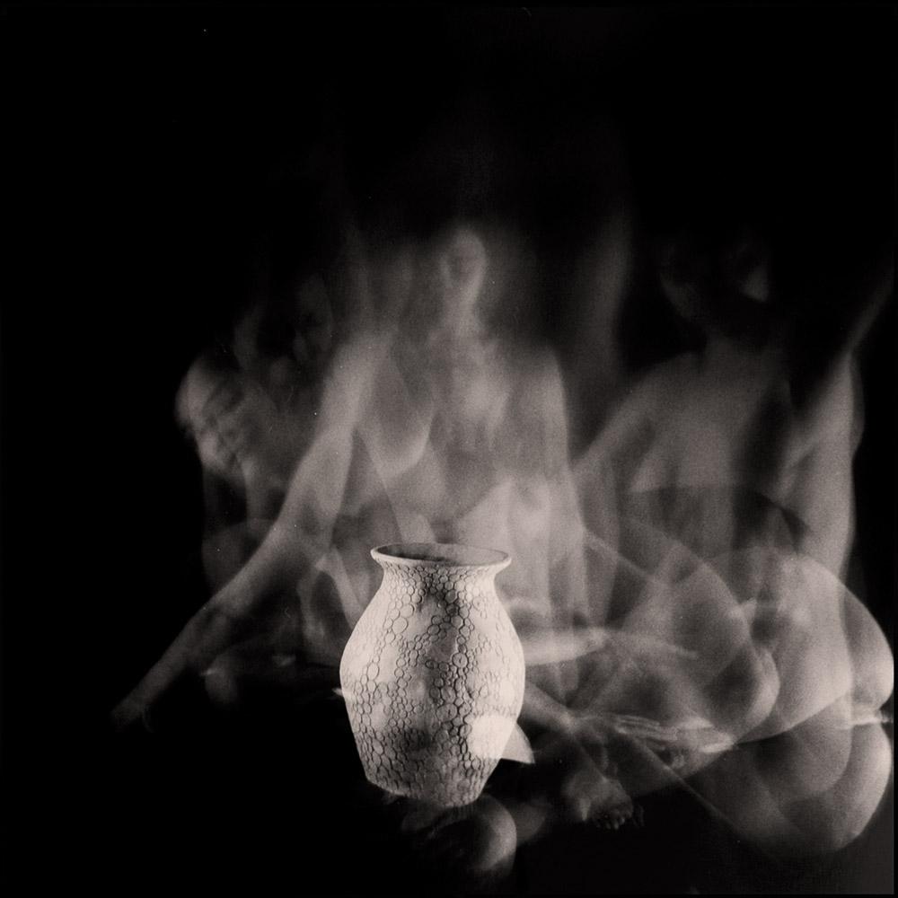 Carla Janse van Rensburg Untitled (12 minute exposure of Ancestry Vase Ritual) 2018 Handprinted Film Photograph on Archival Fibre Paper, 1of3 38.5 x 38.6 cm