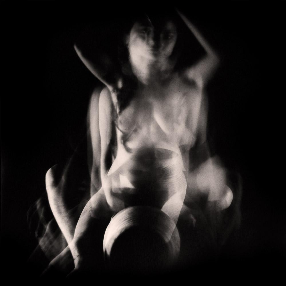 Carla Janse van Rensburg Untitled (12 minute exposure of Earth Vase Consecration Ritual) 2018 Handprinted Film Photograph on Archival Fibre Paper, 1of3 38.5 x 38.6 cm