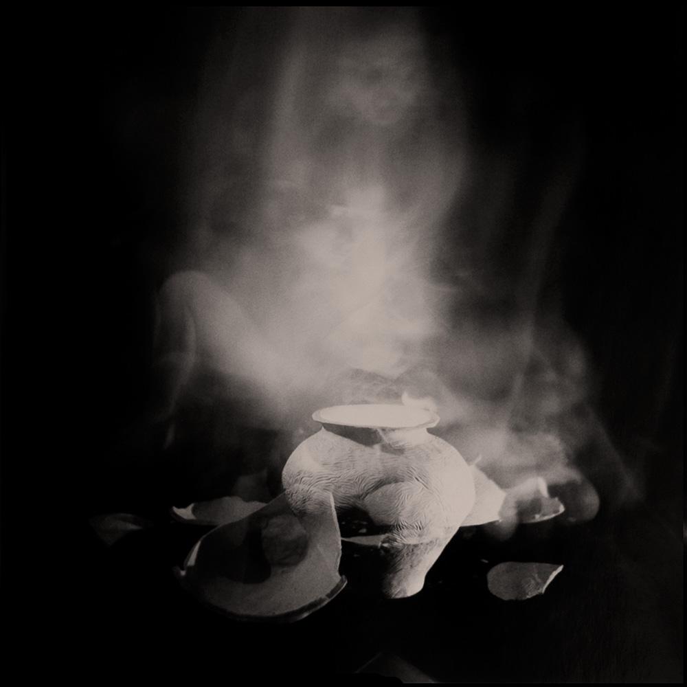 Carla Janse van Rensburg Untitled (12 minute exposure of Fire Vase Ritual) 2018 Handprinted Film Photograph on Archival Fibre Paper, 1of3 38.5 x 38.6 cm