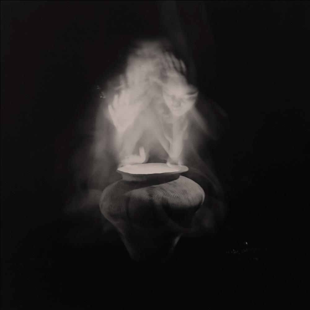 Carla Janse van Rensburg Untitled (12 minute exposure of Forgiveness Vase Consecration Ritual) 2018 Handprinted Film Photograph on Archival Fibre Paper, 1of3 38.5 x 38.6 cm