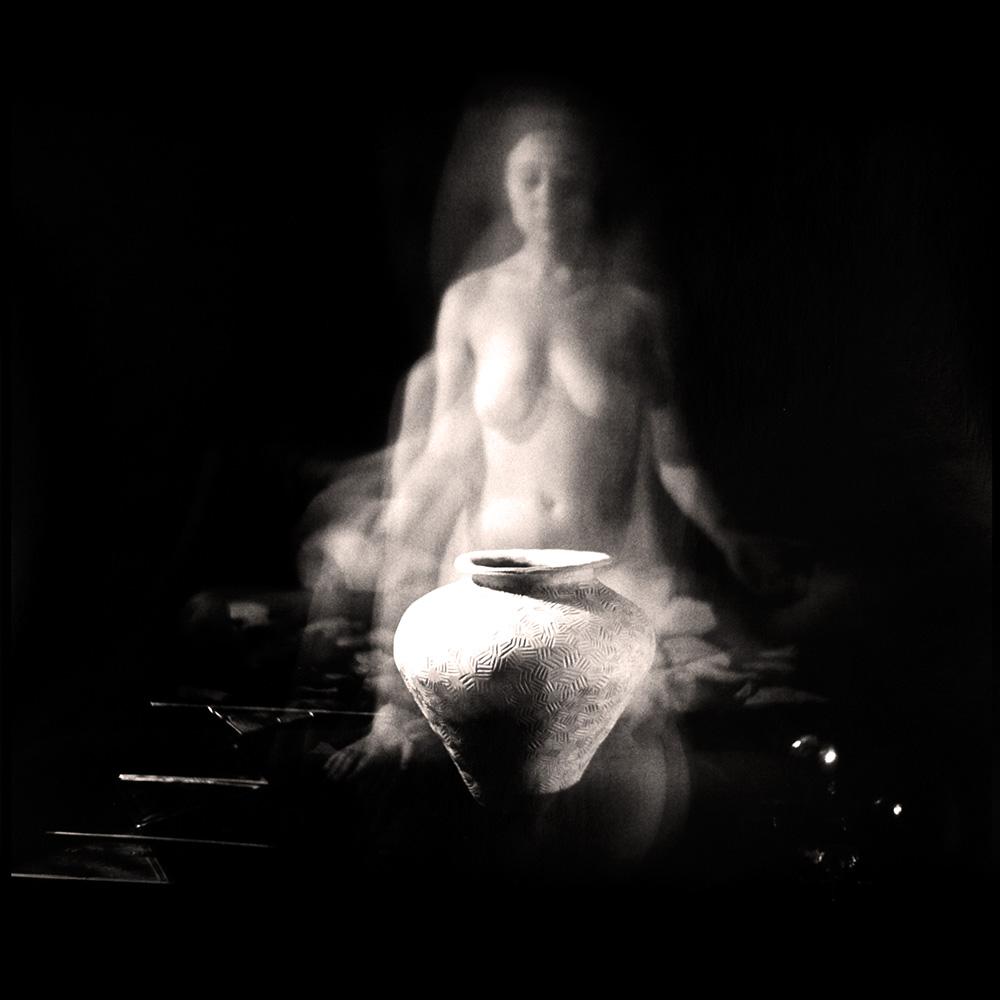Carla Janse van Rensburg Untitled (12 minute exposure of Transformation Vase Ritual) 2018 Handprinted Film Photograph on Archival Fibre Paper, 1of3 38.5 x 38.6 cm