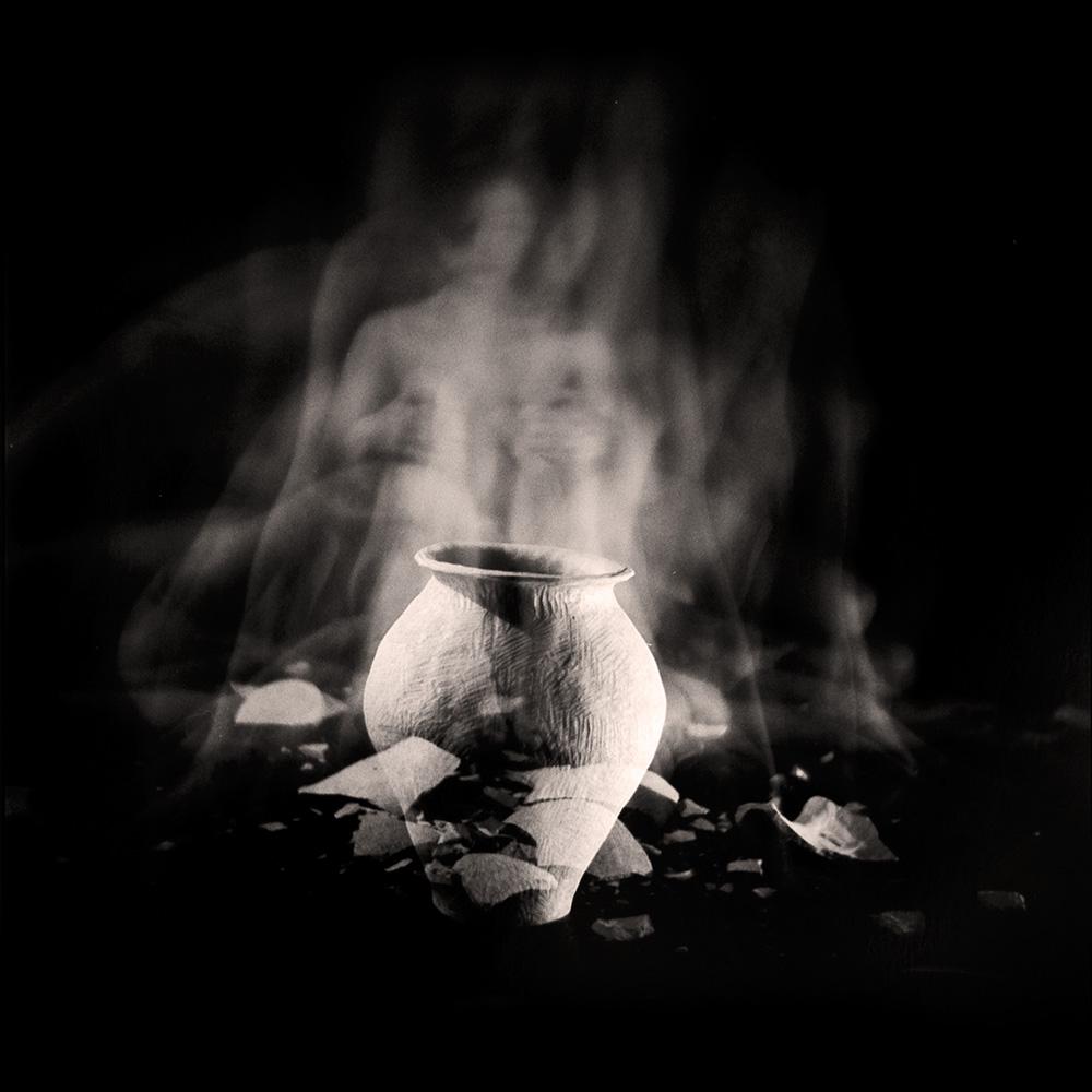 Carla Janse van Rensburg Untitled (12 minute exposure of Unlearning Vase Ritual) 2018 Handprinted Film Photograph on Archival Fibre Paper, 1of3 38.5 x 38.6 cm